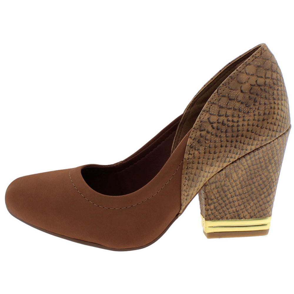 Sapato Feminino Salto Alto Castanho Dakota - B7142