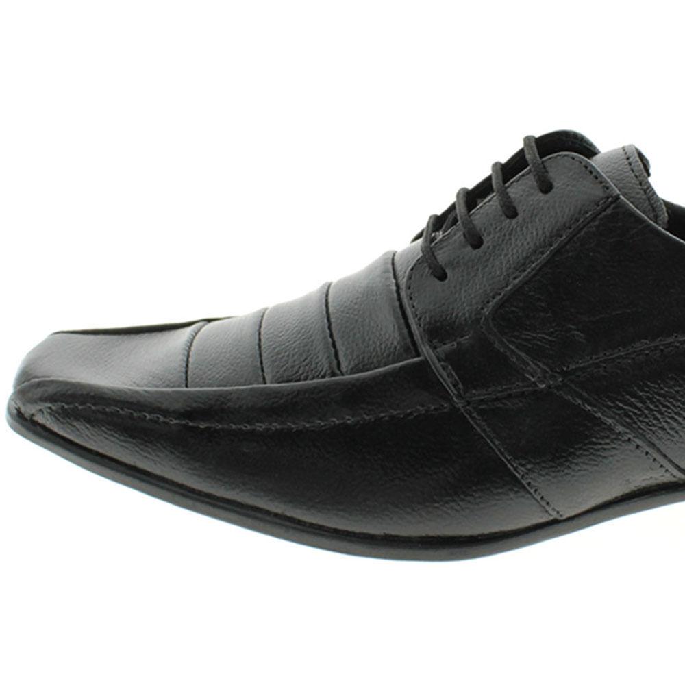 86341f55c Sapato Social Masculino Com Cadarço Preto Parthenon Shoes