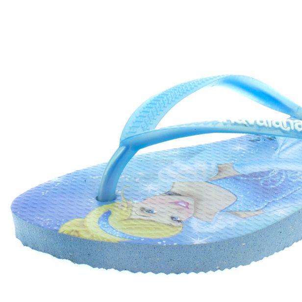 620c39dd5 Chinelo Infantil Feminino Slim Disney Frozen Azul Havaianas Kids ...