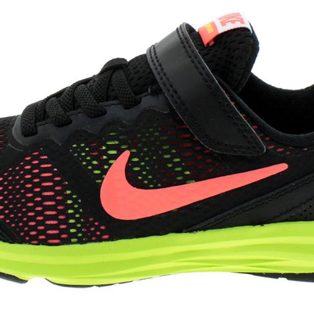 Tênis Infantil Masculino Fusion Run 3 Preto Limão Nike  56efad3f0a834