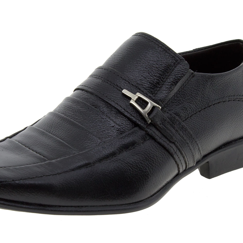 2f36dc132 Sapato Masculino Social com Fivela Preto Parthenon Shoes | Promoção | Lojas  Clovis Calçados - cloviscalcados