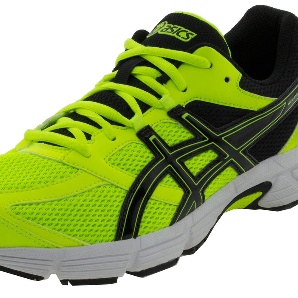d45e4dc353477 Tênis Masculino Impression Verde Limão Preto Asics Clovis