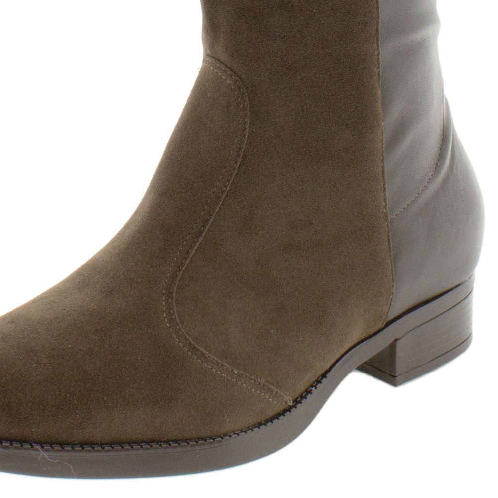 5d1a7c4f6 Bota Feminina Cano Alto Over Knee Café Vizzano | Promoção | Clovis Calçados  - cloviscalcados