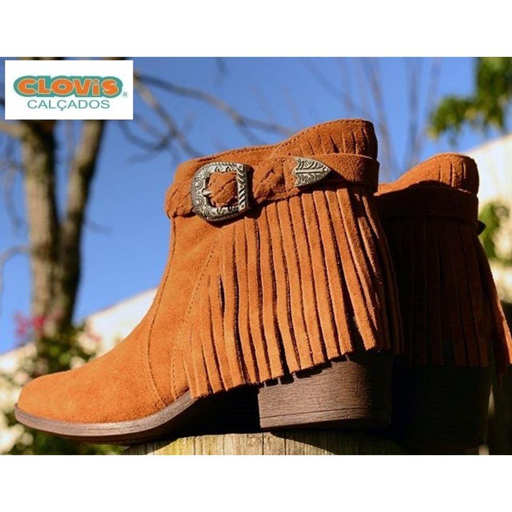 b5401fa72 Bota Feminina Cano Baixo com Franja Café Dakota | Promoção | Clovis  Calçados - cloviscalcados
