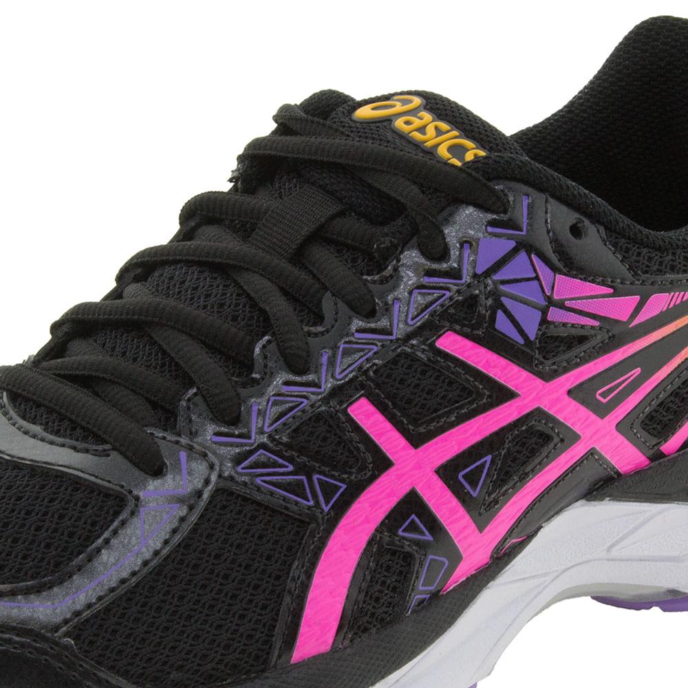 e142bf7bb29 Tênis Feminino Gel-Exalt 3A Preto Pink Asics - T063A - cloviscalcados