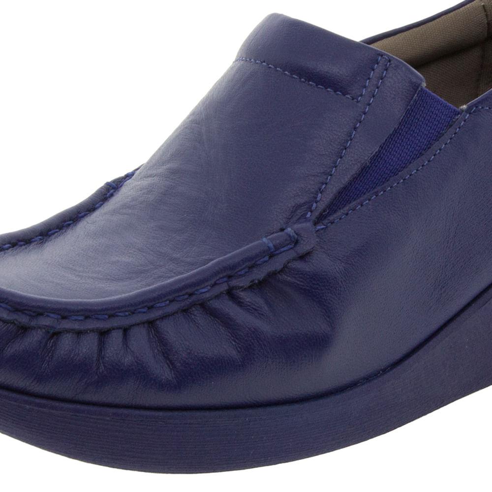 d1b63e1b4 Sapato Feminino Anabela Azul Usaflex - 5743PL - cloviscalcados