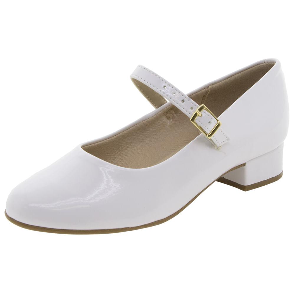7168da1d6 Sapato Infantil Feminino Branco Molekinha | Clovis - 2504103 ...