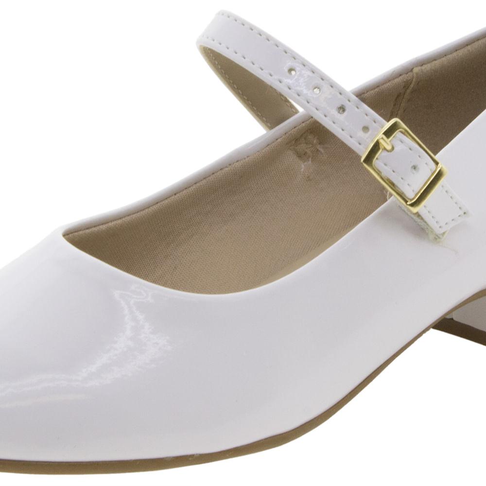 06fe3fdbce Sapato Infantil Feminino Branco Molekinha