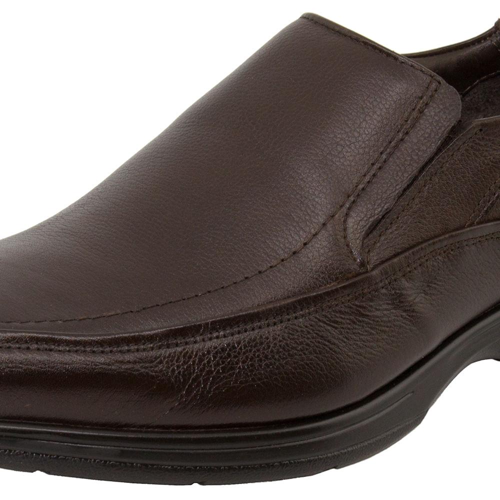 7e6da18a4 Sapato Masculino Social Marrom Democrata | Clovis - 408023 - cloviscalcados