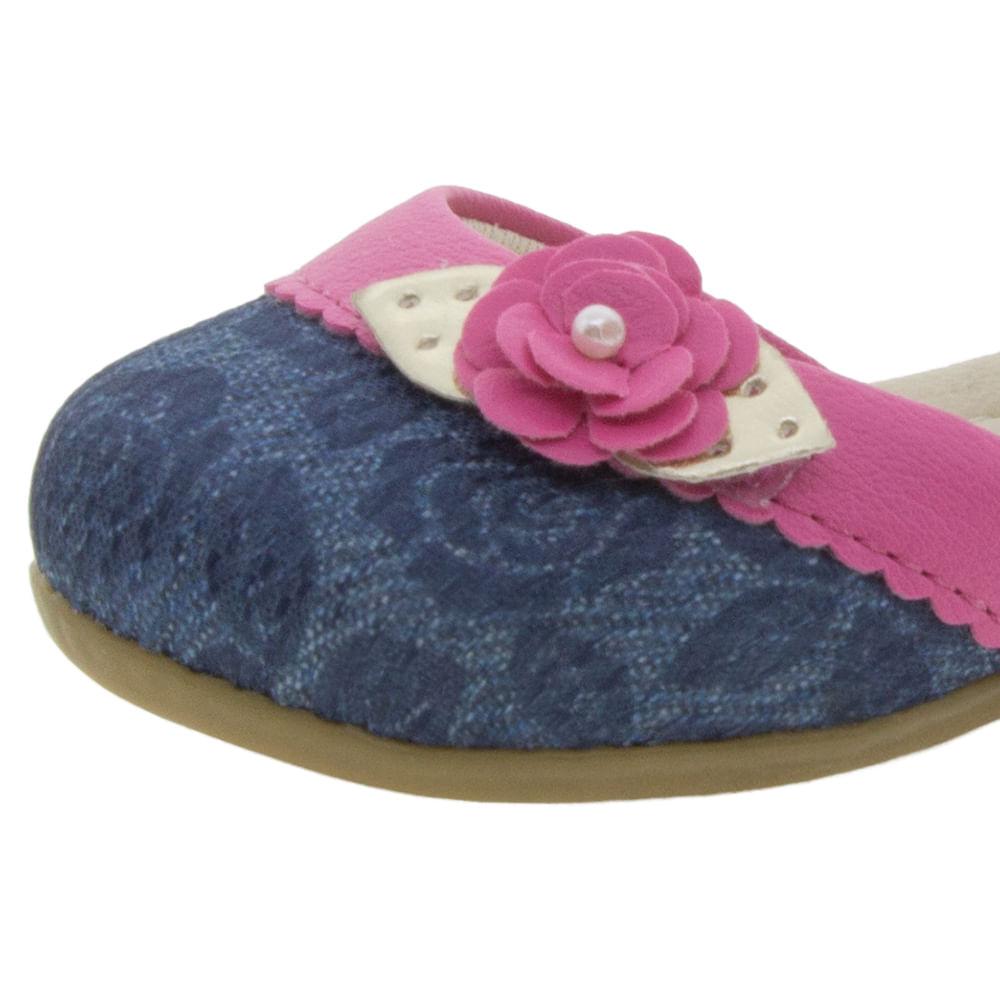 1b40f88388 Sapatilha Infantil Feminina Jeans Pink Lily Kids - 20019 - cloviscalcados