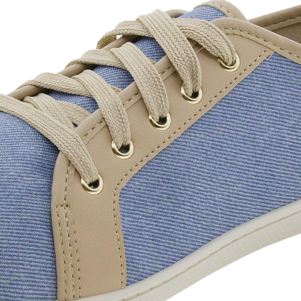 a9200aa4102 Tênis Feminino Casual Jeans Bege Moleca - 5605100 - cloviscalcados