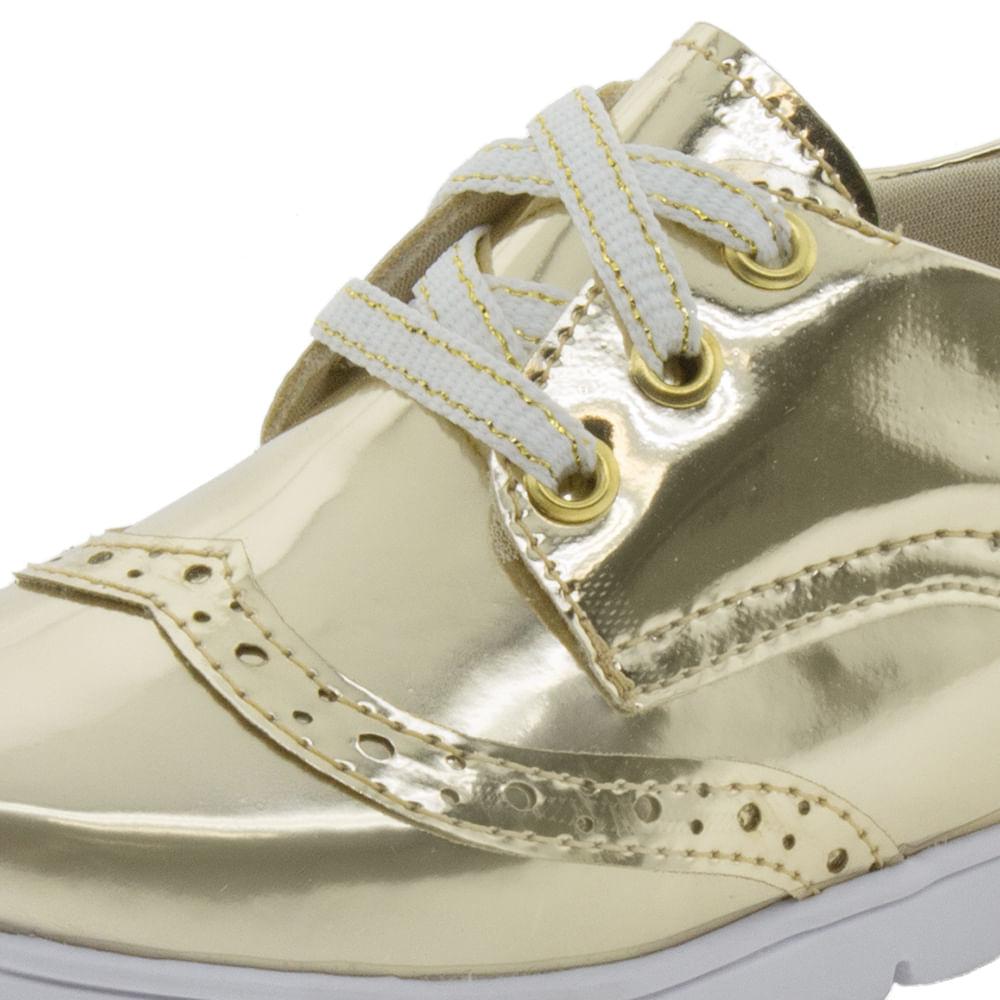 90efd474095 Sapato Infantil Feminino Dourado Bella Ninna - 70008 - cloviscalcados