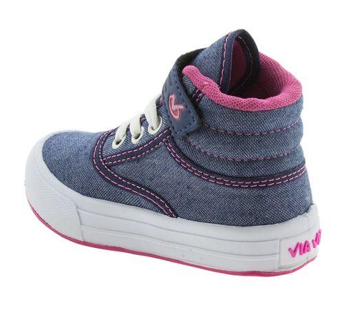 80d513e77 Tênis Infantil Feminino Azul Pink Via Vip - 2627 - cloviscalcados