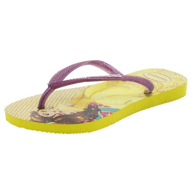 364ad87c44 Chinelo Infantil Feminino Slim Princesas Amarela Havaianas Kids - 4123328 -  cloviscalcados