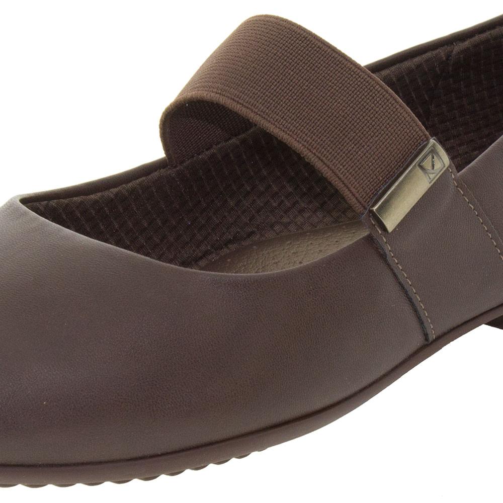 4e300063c Sapato Feminino Salto Baixo Marrom Piccadilly - 250146 - cloviscalcados