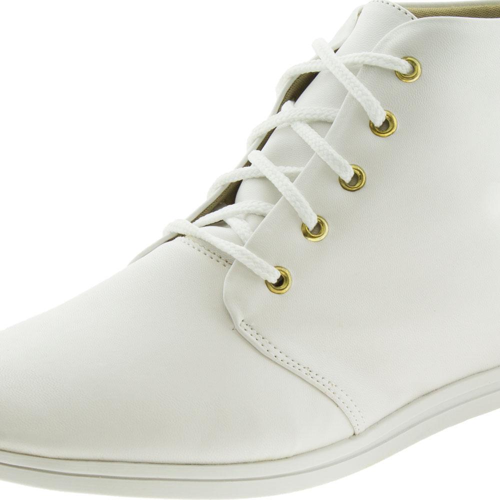 Bota Feminina Cano Baixo Branca Keenzo Shoes - KR1345 - cloviscalcados 557f4de7f75