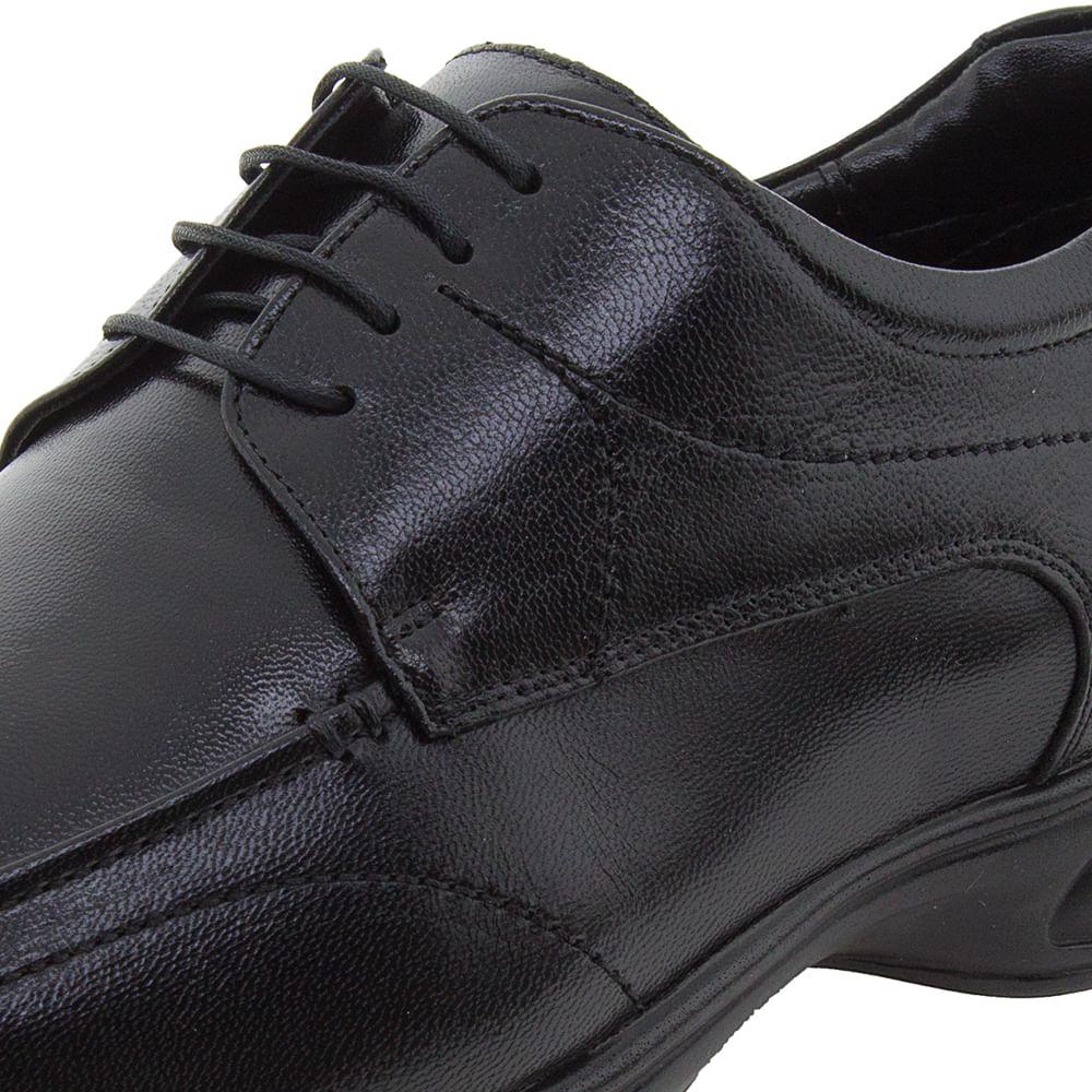 c04fbfbf4584f Sapato Masculino Social 3D Preto/Cadarço Jota Pe - 30003 - cloviscalcados