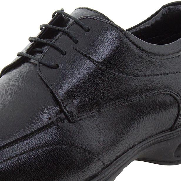 cc78405968 Sapato Masculino Social 3D Preto/Cadarço Jota Pe - 30003 - cloviscalcados