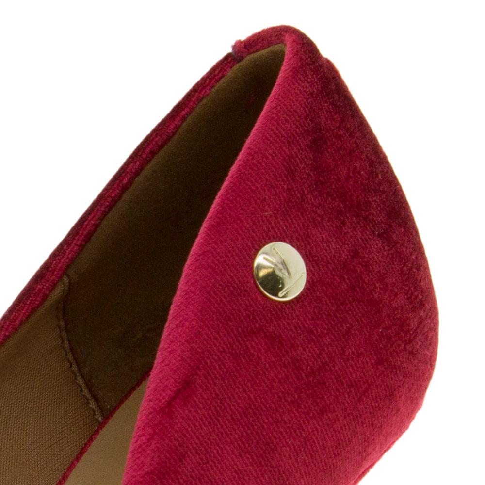 6885eddad29f6 Sapato Feminino Scarpin Salto Alto Vermelho Vizzano - 1184101 -  cloviscalcados
