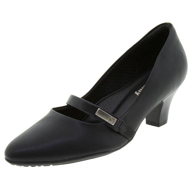 30cb4147bd Sapato Feminino Salto Baixo Verniz Preto Piccadilly - 703011 ...