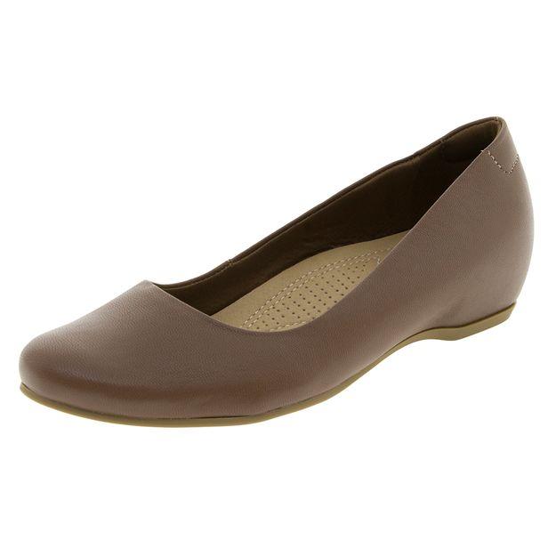 8bcefd846 Sapato Feminino Salto Baixo Embutido Linhaça Usaflex - N220150 -  cloviscalcados