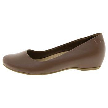 6ff9afdfa Usaflex. Sapato Feminino Salto Baixo Embutido Linhaça Usaflex - N220150