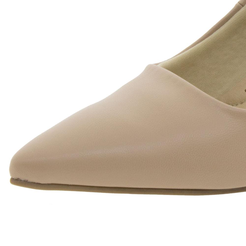 ab6481702 Sapato Feminino Salto Médio Areia Facinelli - 62104 - cloviscalcados