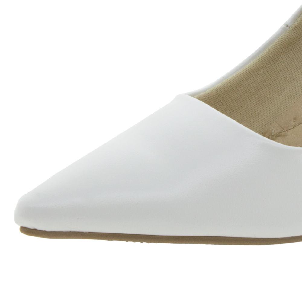 c9808eba99 Sapato Feminino Salto Médio Branco Facinelli - 62104 - cloviscalcados