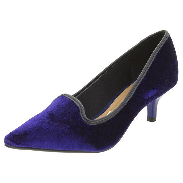 dbd9a2fd2e Sapato Feminino Salto Baixo Azul Vizzano - 1122633. Previous. 01  01  01   01  01  01  01  01. Next. 01