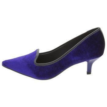 622cb15cee Sapato Feminino Salto Baixo Azul Vizzano - 1122633 - cloviscalcados