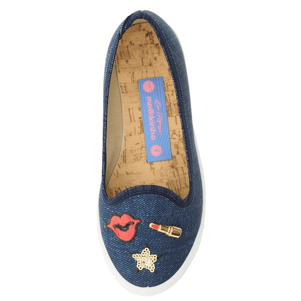 ea7741d722 Sapatilha Infantil Feminina Jeans Molekinha - 2505111 - cloviscalcados