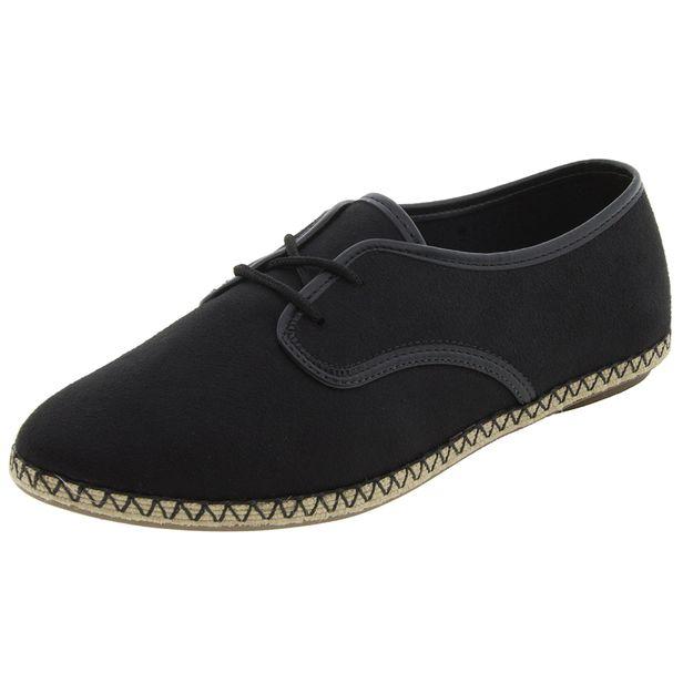 Sapato-Feminino-Oxford-Preto-Camurça-Moleca - 5249612-01