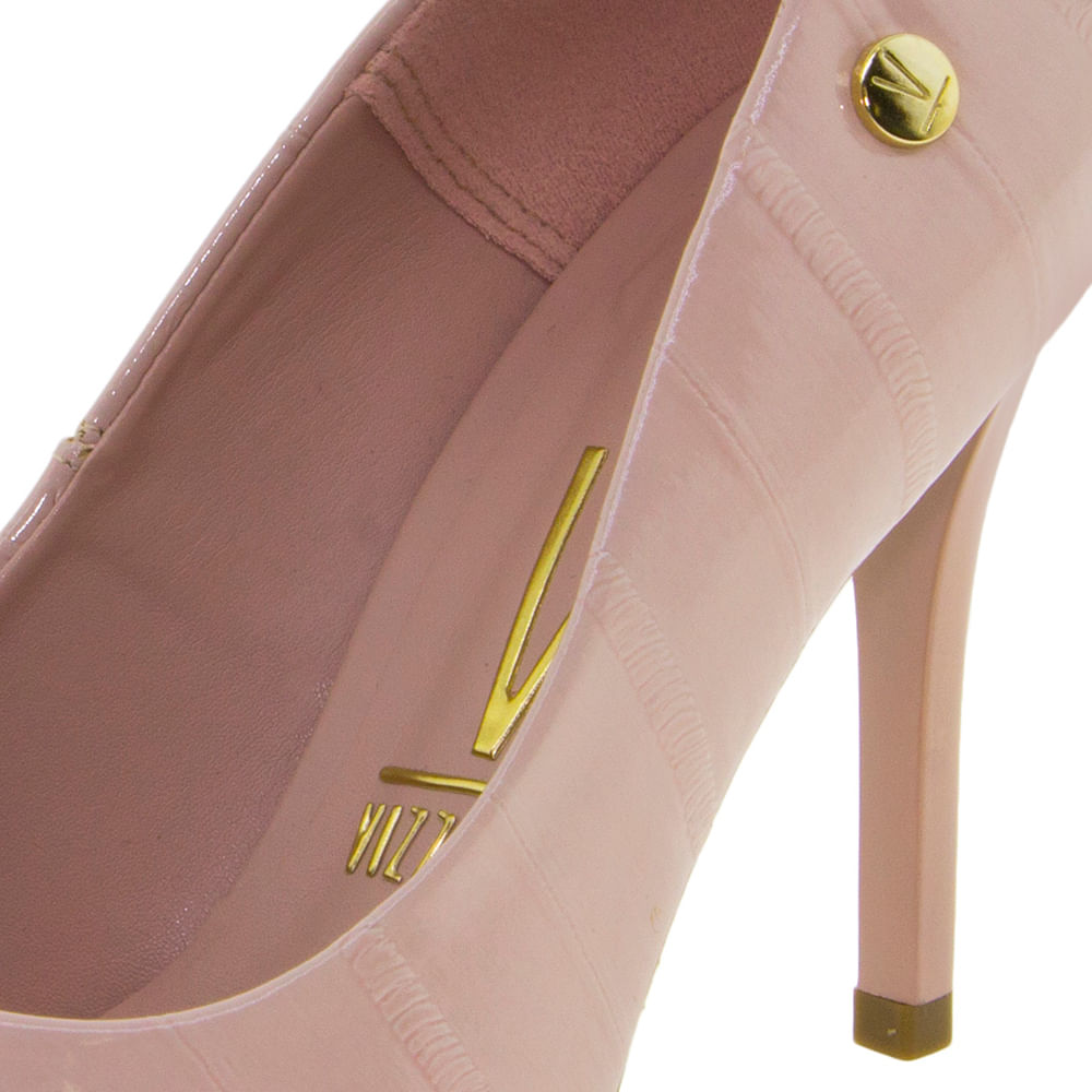 b247106a5 Sapato Feminino Salto Alto Rosa Vizzano - 1230400 - cloviscalcados