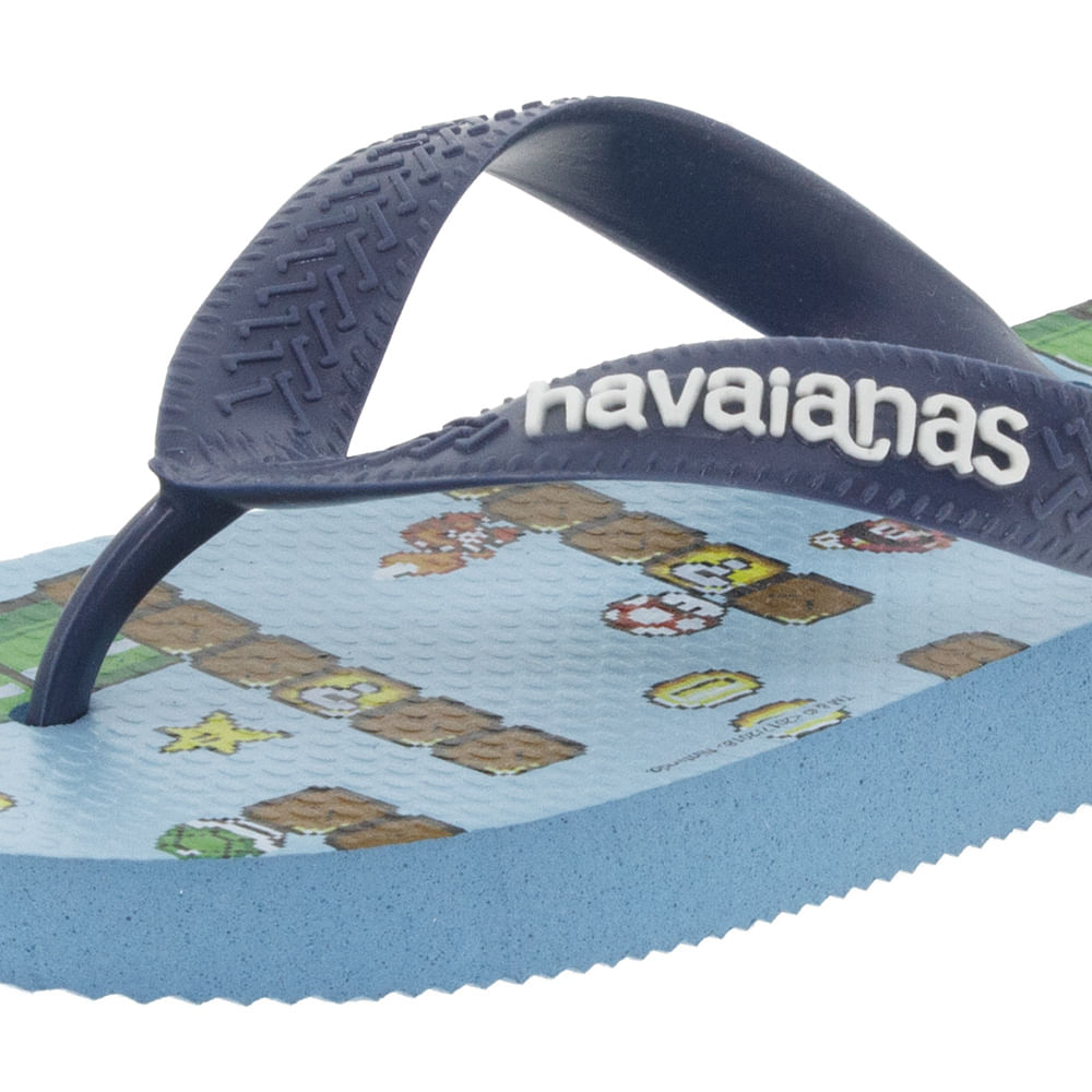 a4aba3940d Chinelo Masculino Mario Bros Azul Havaianas - 4140269 - cloviscalcados
