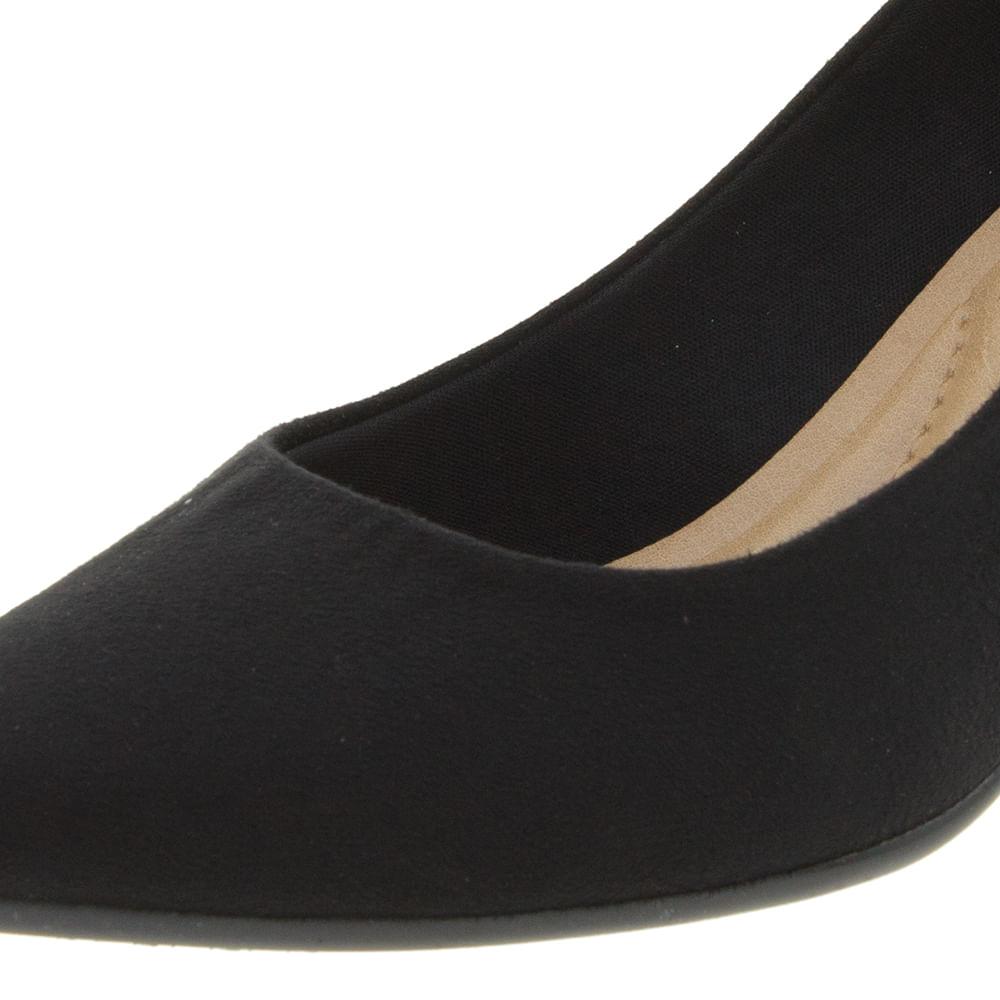 091e5f514 Sapato Feminino Scarpin Salto Médio Camurça/Preto Beira Rio - 4163100 -  cloviscalcados