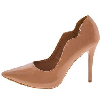 48a0b88aef Di Cristalli. Sapato Feminino Salto Alto Natural Di Cristalli - 3128333