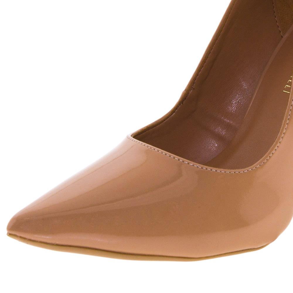 840546b39f Sapato Feminino Salto Alto Natural Di Cristalli - 3128333 - cloviscalcados