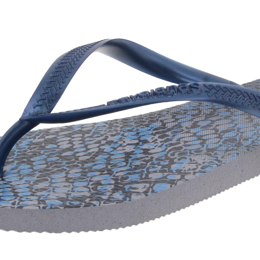 9986799009 Chinelo Feminino Slim Animals Cinza Azul Havaianas - 4103352 -  cloviscalcados