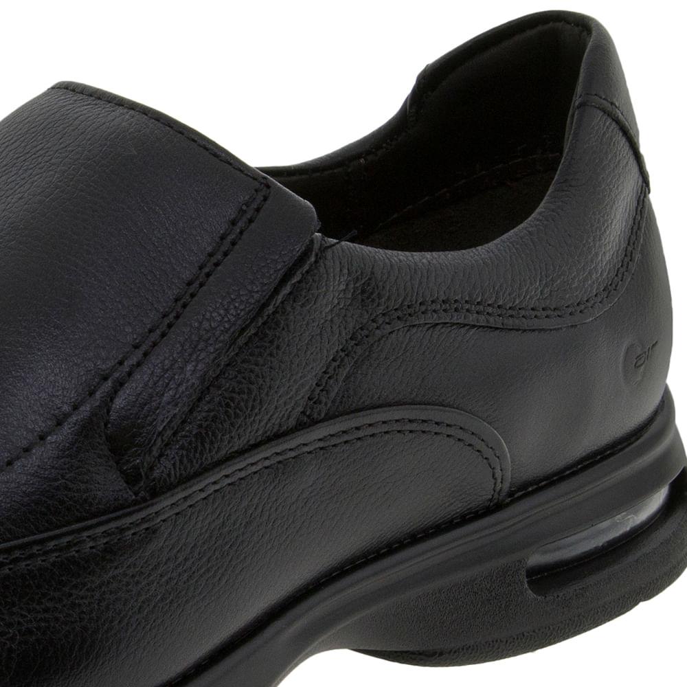 4ba24c1d9 Sapato Masculino Social Preto/Liso Democrata - 448023 - cloviscalcados