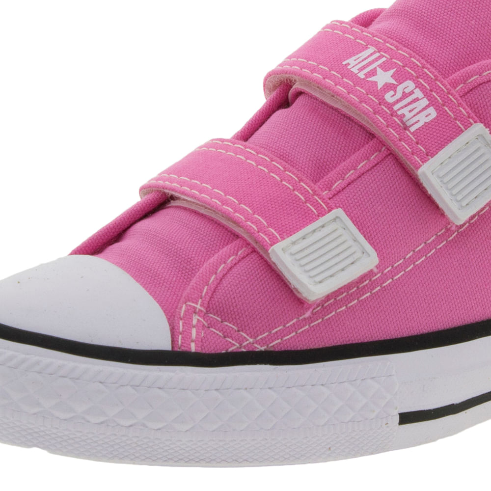 40ce89a828e Tênis Infantil Feminino Core 2 Straps Pink All Star Converse ...