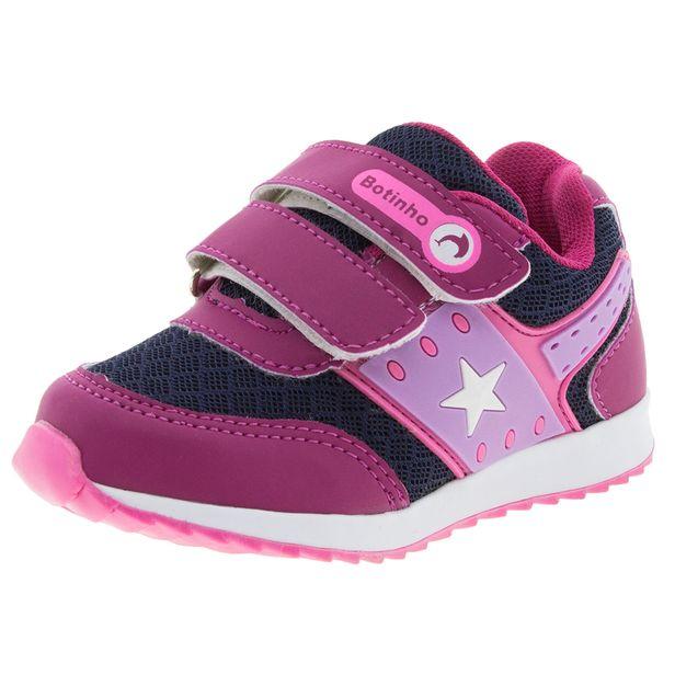 8c702f851af Tênis Infantil Feminino Marinho Pink Botinho - 783 - cloviscalcados