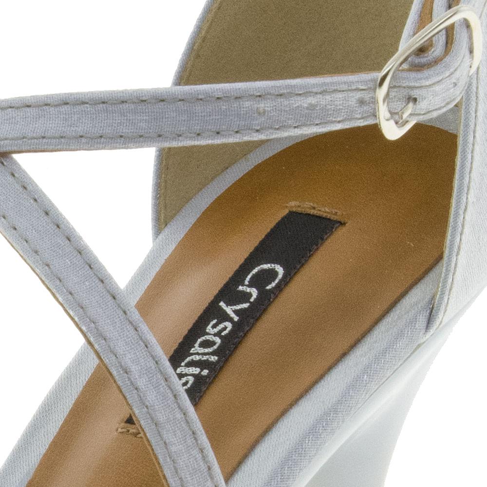 3ec324ae6 Sandália Feminina Salto Alto Prata/Silver Crysalis | Promoção Noiva | Lojas  Clovis Calçados - cloviscalcados