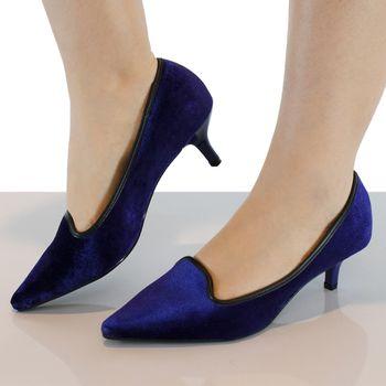 cd622a5c6c Sapato Feminino Salto Baixo Azul Vizzano - 1122633. Previous. 01 ...