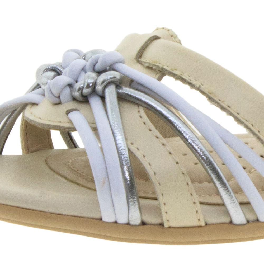 11278bb7a Sandália Feminina Rasteira Branco/Off ComfortFlex - 1668401 - cloviscalcados