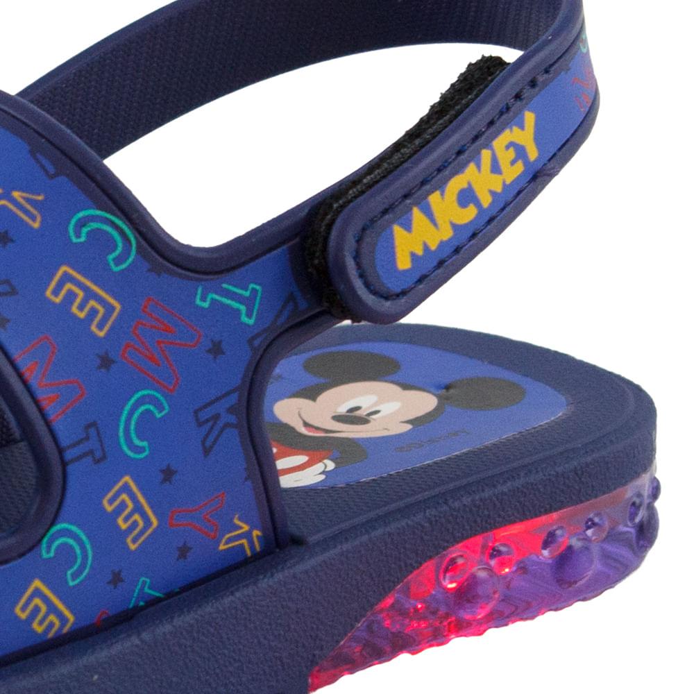 d4500aab7 Sandália Infantil Baby Mickey e Minnie Led Azul Grendene Kids - 21672 -  cloviscalcados