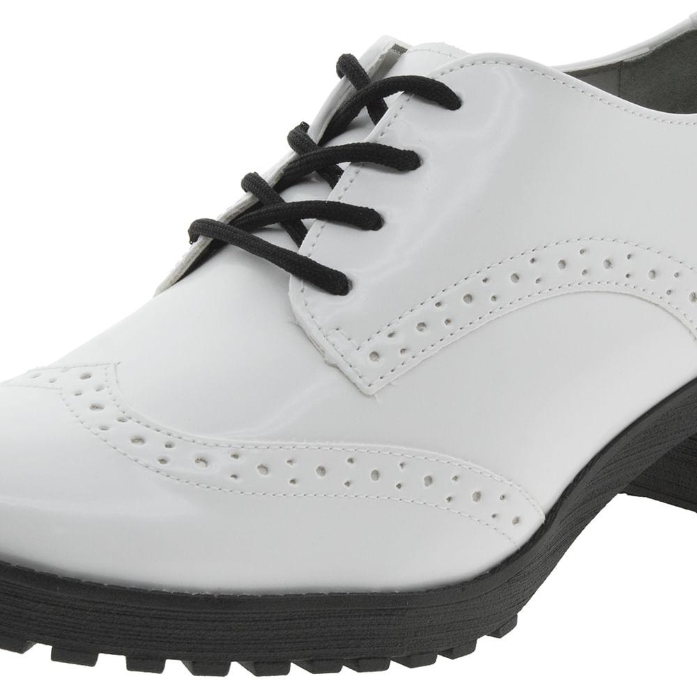 ed13112d4c Sapato Feminino Oxford Branco Via Marte - 171599 - cloviscalcados