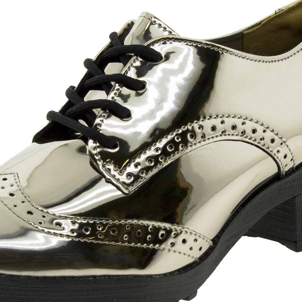 d391a4f21 Sapato Feminino Oxford Prata/Velho Via Marte - 171599 - cloviscalcados