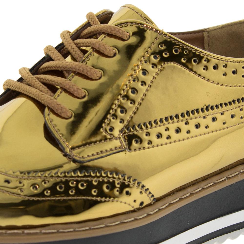 3bb60369a1 Sapato Feminino Oxford Bronze Via Marte - 174303 - cloviscalcados