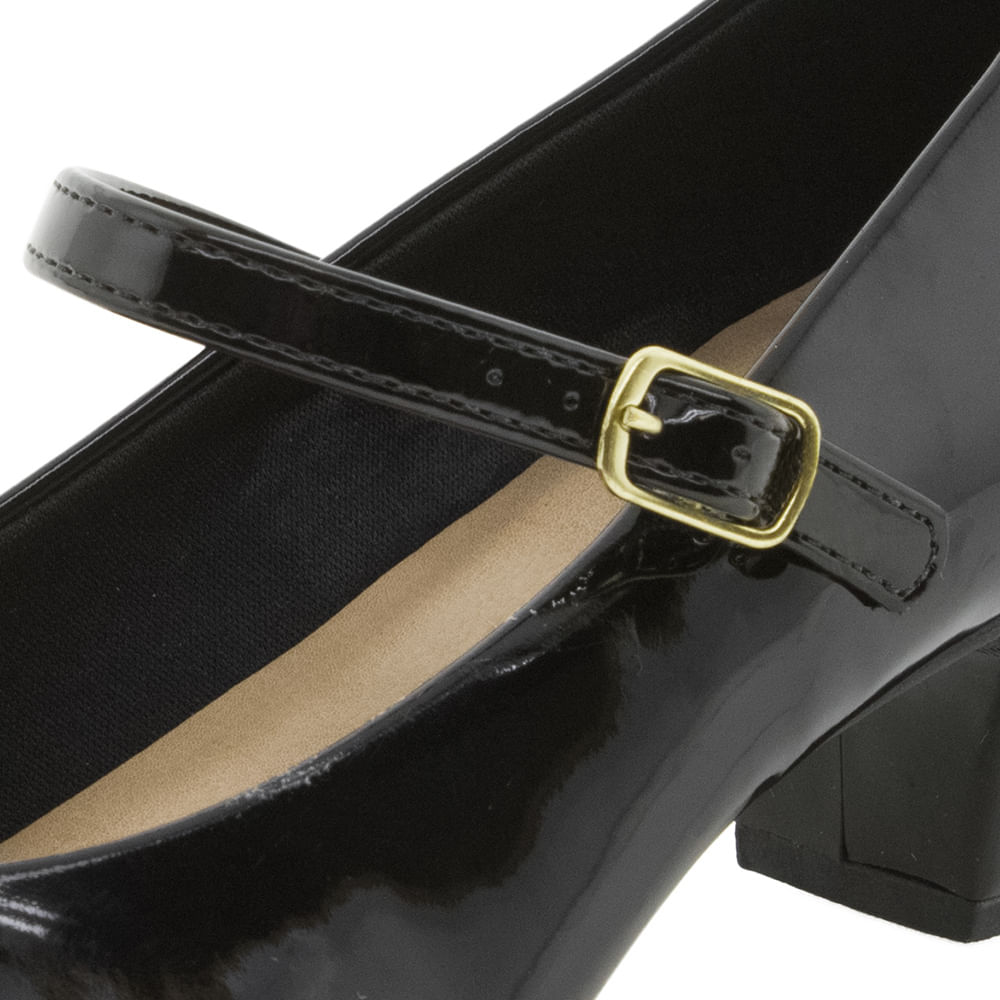 1932db6e97 Sapato Feminino Boneca Verniz Preto Bárbara Krás - 556755252 -  cloviscalcados