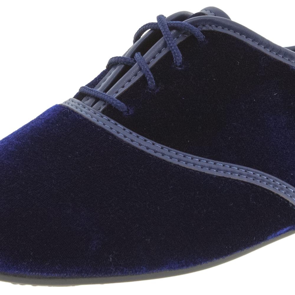 cbe55d1736 Sapato Feminino Oxford Marinho Veludo Beira Rio - 4150100 - cloviscalcados